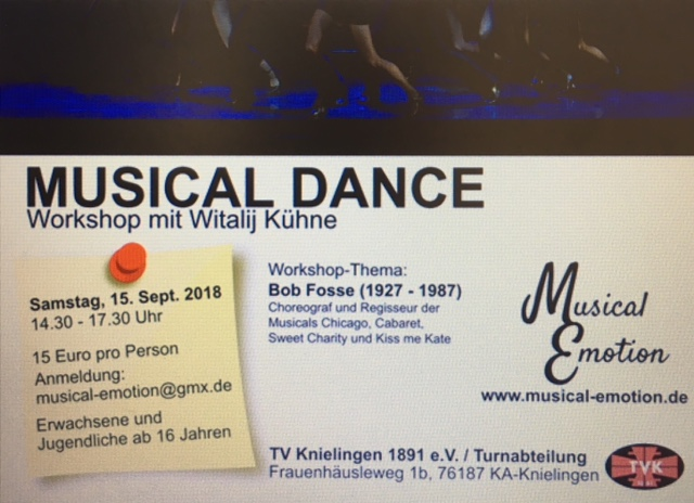 Workshop Musical Dance - September 2018